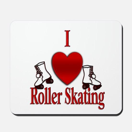 I Heart Roller Skating Mousepad