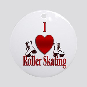 I Heart Roller Skating Ornament (Round)