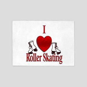 I Heart Roller Skating 5'x7'Area Rug