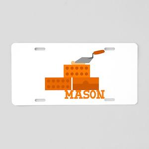 Mason Aluminum License Plate