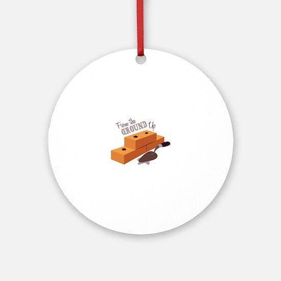 Ground Up Ornament (Round)
