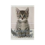 Cat Coat Rectangle Magnet (10 pack)