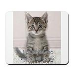 Cat Coat Mousepad