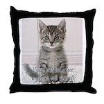 Cat Coat Throw Pillow
