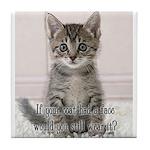 Cat Coat Tile Coaster