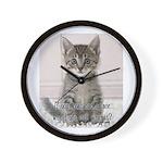 Cat Coat Wall Clock