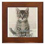 Cat Coat Framed Tile