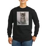 Cat Coat Long Sleeve Dark T-Shirt