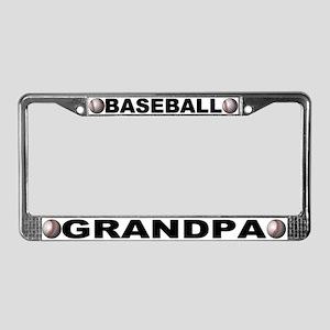 Baseball Grandpa Chrome License Plate Frame