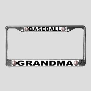 Baseball Grandma Chrome License Plate Frame