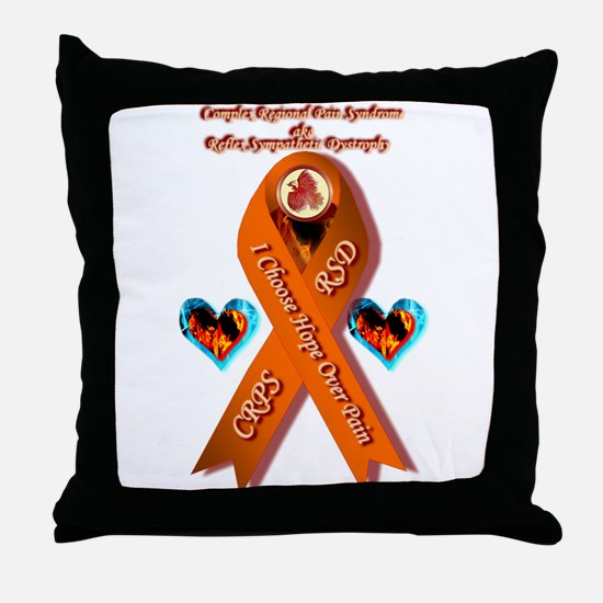 I Choose Hope Over Pain CRPS RSD Phoe Throw Pillow