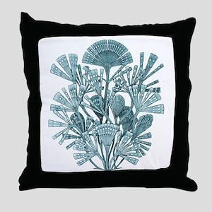 Fan Design - Diatomea by Ernst Haecke Throw Pillow