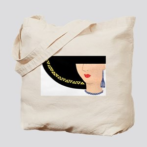 LADY IN HAT Tote Bag