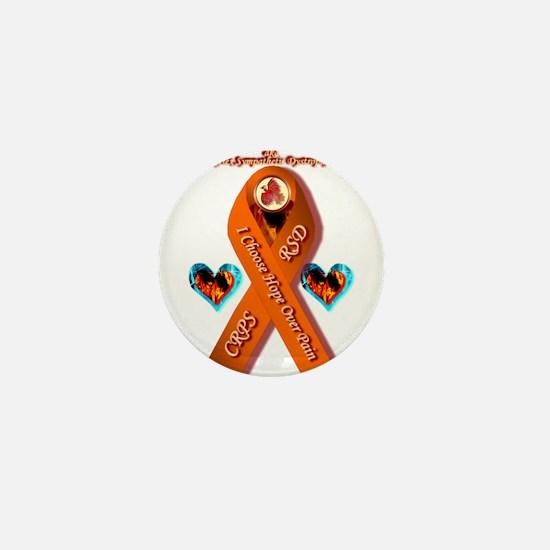 I Choose Hope Over Pain CRPS RSD Phoen Mini Button