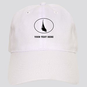 Sail Boat Silhouette Oval (Custom) Baseball Cap