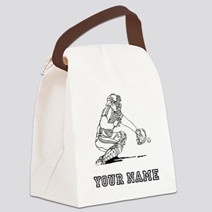 Baseball Catcher (Custom) Canvas Lunch Bag