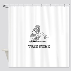 Baseball Catcher (Custom) Shower Curtain