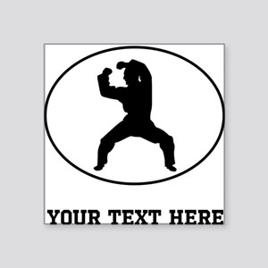 Martial Artist Silhouette Oval (Custom) Sticker
