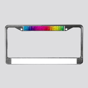 ombre rainbow License Plate Frame