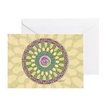 Celtic Spring Mandala Greeting Card