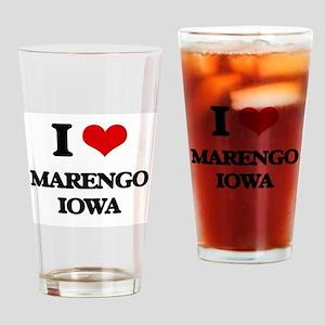 I love Marengo Iowa Drinking Glass