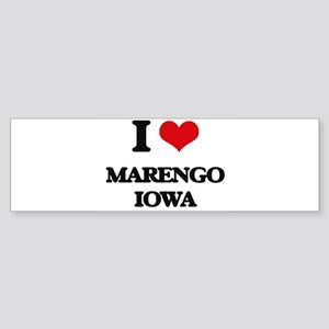 I love Marengo Iowa Bumper Sticker