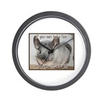 Chinchilla Coat Wall Clock