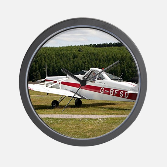 Low wing tricycle glider tow plane Wall Clock