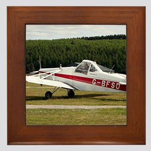 Low wing tricycle glider tow plane Framed Tile