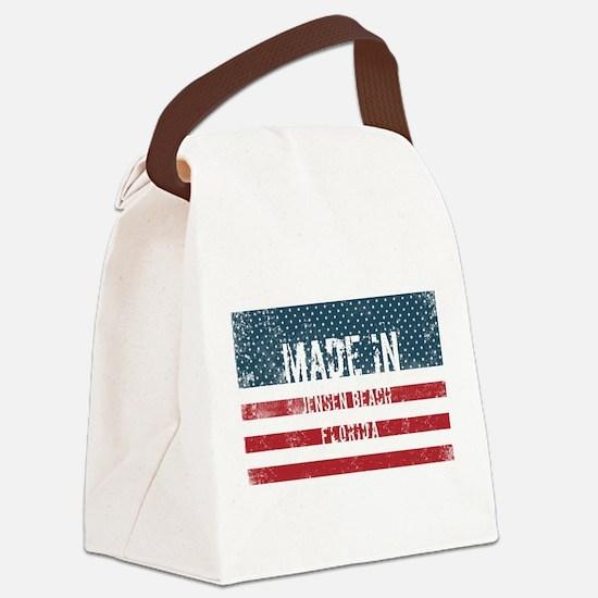 Made in Jensen Beach, Florida Canvas Lunch Bag