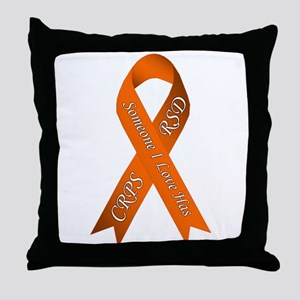 Someone I Love has CRPS RSD Orange Aw Throw Pillow