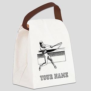Baseball Batter (Custom) Canvas Lunch Bag