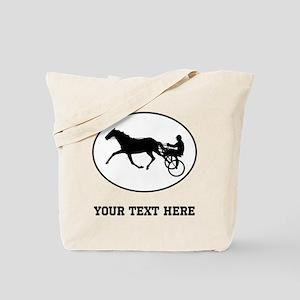Harness Racing Oval (Custom) Tote Bag