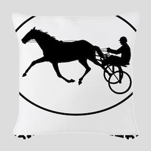 Harness Racing Oval (Custom) Woven Throw Pillow