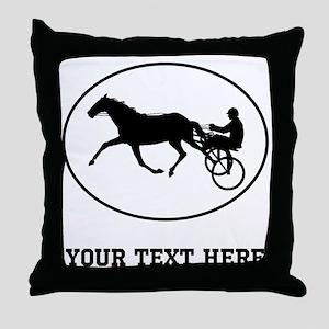 Harness Racing Oval (Custom) Throw Pillow