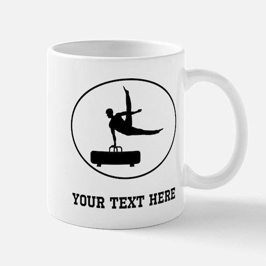 Pommel Horse Silhouette Oval (Custom) Mugs