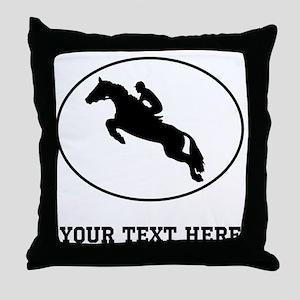 Equestrian Horse Silhouette Oval (Custom) Throw Pi
