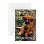 Dog Coat Greeting Cards (Pk of 20)