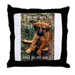 Dog Coat Throw Pillow