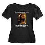 Zeejus! Women's Plus Size Scoop Neck Dark T-Shirt