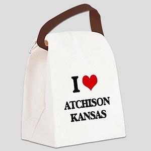 I love Atchison Kansas Canvas Lunch Bag