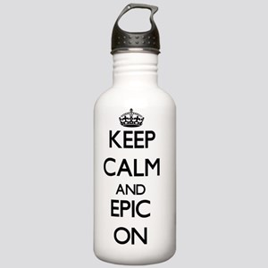 Keep Calm and EPIC ON Stainless Water Bottle 1.0L