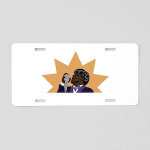 James Brown Aluminum License Plate