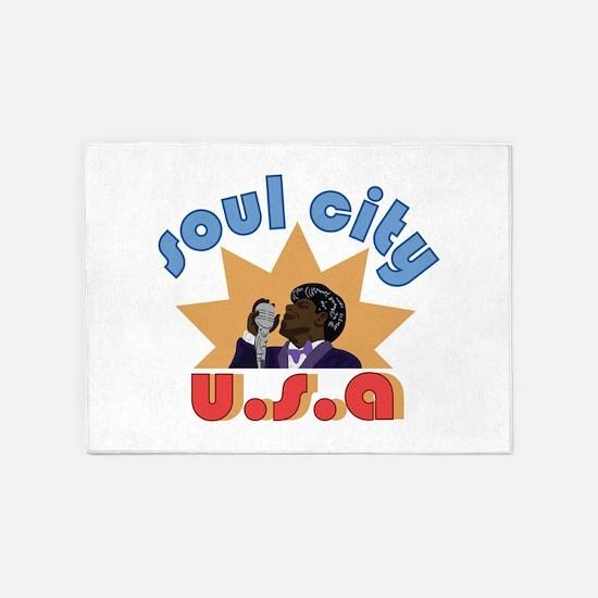 Soul City USA 5'x7'Area Rug