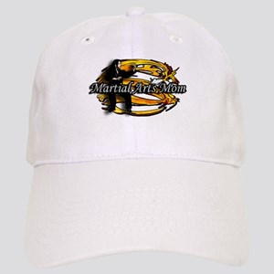 Martial Arts Mom White/gold Dragon Cap