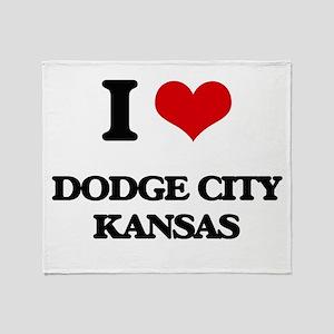I love Dodge City Kansas Throw Blanket