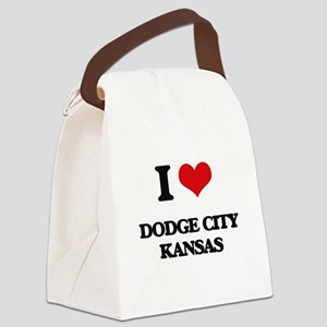 I love Dodge City Kansas Canvas Lunch Bag