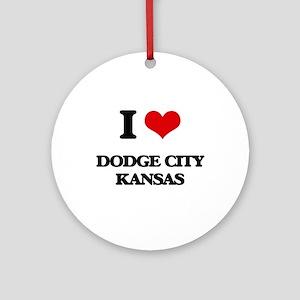 I love Dodge City Kansas Ornament (Round)