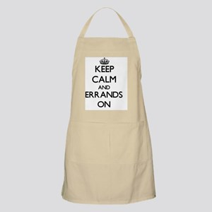 Keep Calm and ERRANDS ON Apron