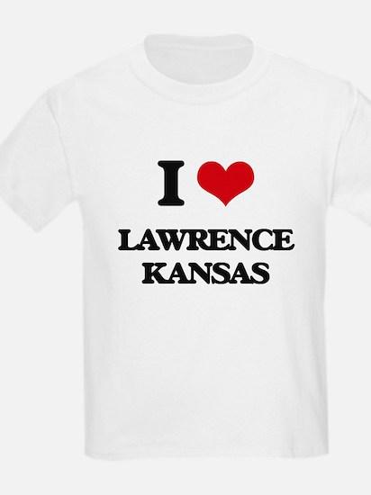 I love Lawrence Kansas T-Shirt